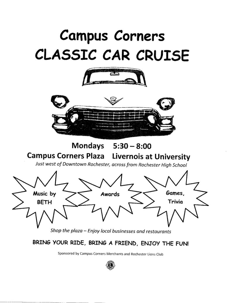 Campus Corners Classic Car Cruise