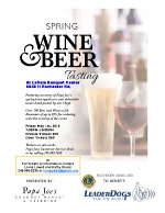 Wine & Beer Tasting Event to benefit Leader Dogs for the Blind