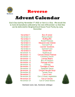 Reverse Advent Food Drive